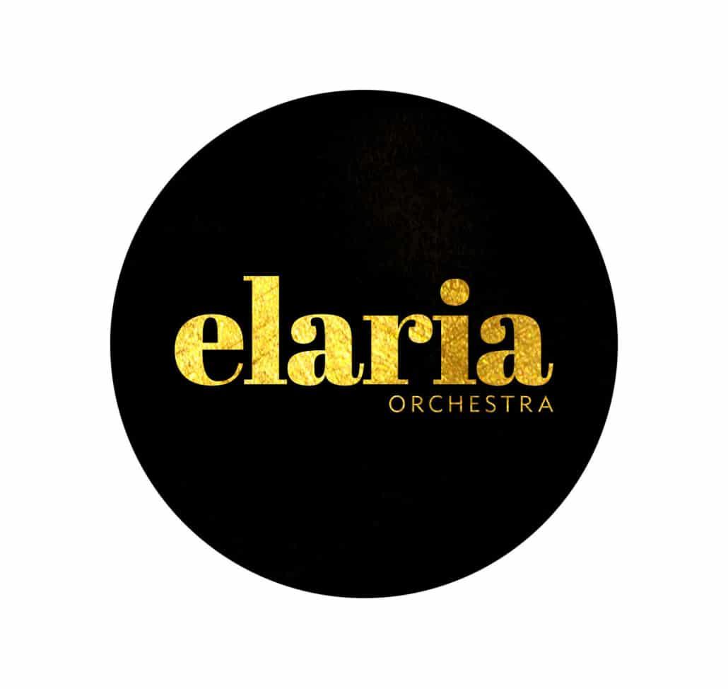 elaria logotype gold on black